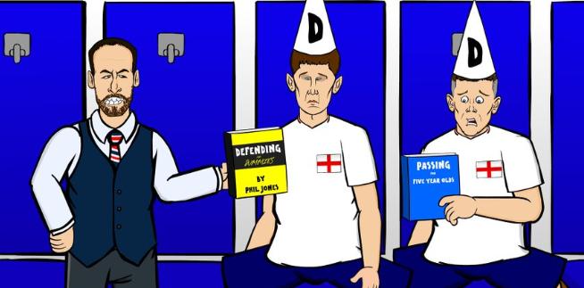 England defending