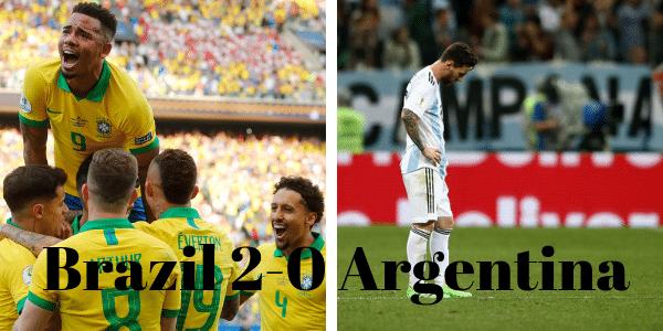 Brazil beats Argentina to reach Copa America Final – Football League