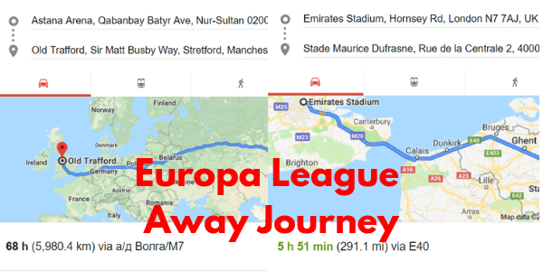 Europa League Away distances