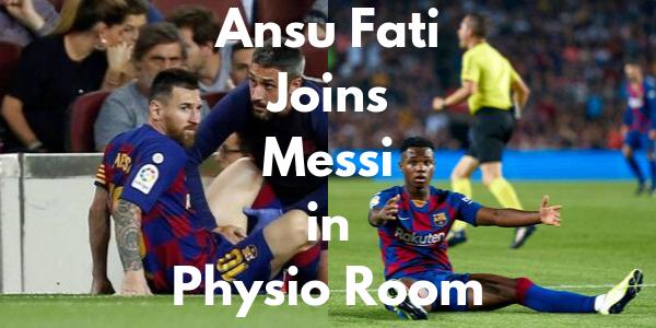 Ansu Fati and Messi injured