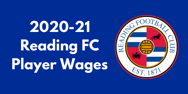 Reading FC 2020-21 Player Wages