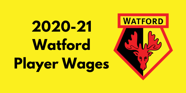 Watford FC 2020-21 Player Wages