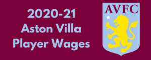 Aston Villa 2020-21 Player Wages
