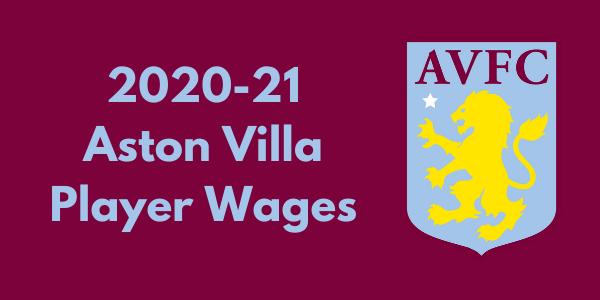 Aston Villa 2020-21 Player Wages