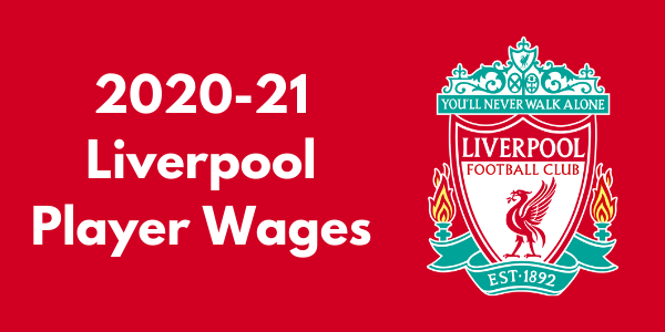 Liverpool 2020-21 Player Wages