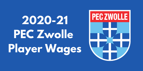 PEC Zwolle 2020-21 Player Wages
