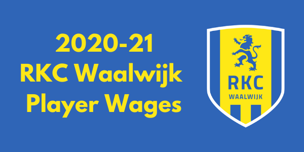 RKC Waalwijk 2020-21 Player Wages