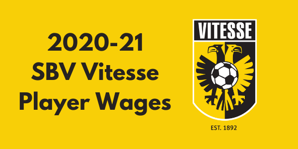 SBV Vitesse 2020-21 Player Wages
