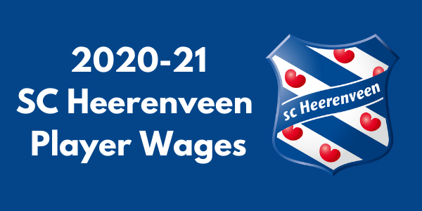 SC Heerenveen 2020-21 Player Wages