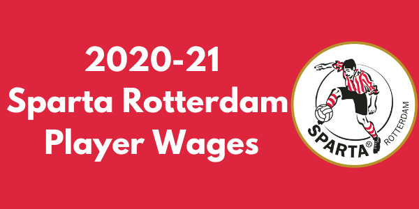 Sparta Rotterdam 2020-21 Player Wages