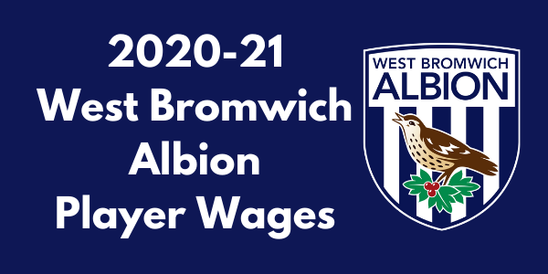 West Bromwich Albion 2020-21 Player Wages