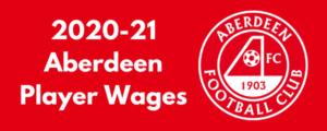 Aberdeen FC 2020-21 Player Wages