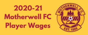 Motherwell FC 2020-21 Player Wages