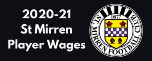 St. Mirren FC 2020-21 Player Wages